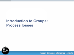 Group process losses