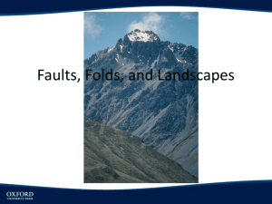 Faults, Folds, and Landscapes - Cal State LA