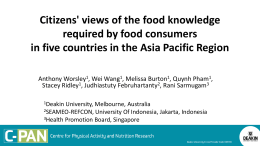 2014 Citizens views of required food knowledge