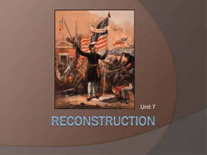 Reconstruction - Glynn County Schools