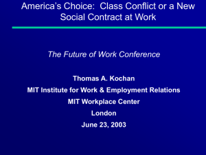 Class Conflict or a New Social Contract at Work