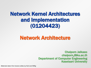 Network Architecture - Department of Computer Engineering