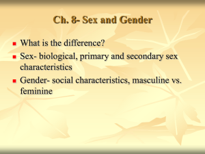 Ch. 11- Sex and Gender