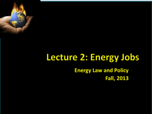 Lecture 2 - Energy Careers