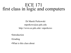 Introduction to ECE 510 Adv.Logic Synthesis