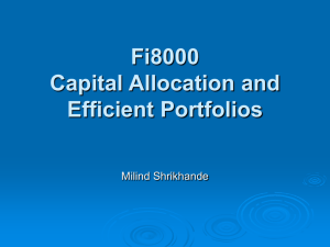 7. Efficient Portfolio Allocations