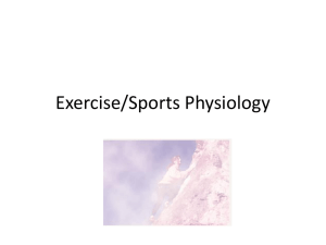 Exercise/Sports Physiology