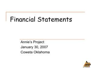 Financial Statements in Agriculture