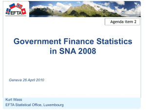 Financial presentation of the General Government