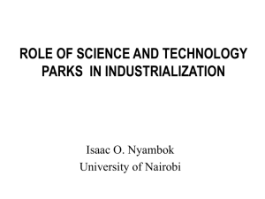 science and technology parks: university of nairobi prospectus