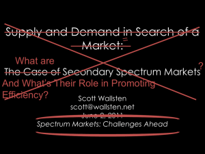 Supply and Demand in Search of a Market: The Case of Secondary
