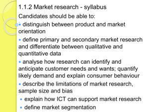 1.1.2 Market research student version