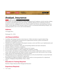 Giant Eagle - Insurance Analyst