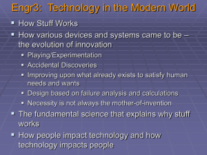 Engr3: Technology in the Modern World