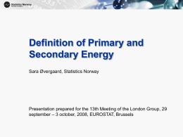 Definition of Primary and Secondary Energy