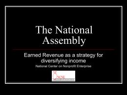Earned Revenue as a Strategy for Diversifying Income PowerPoint