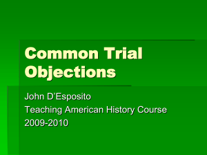 Common Trial Objections