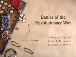 Revolutionary War Battles - Somerset Independent Schools