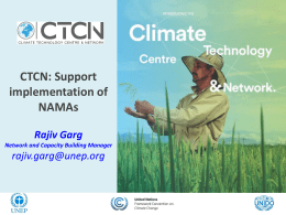 CTCN: Support Implementation of NAMAs