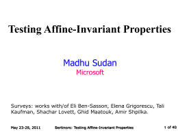 Testing Affine-Invariant Properties
