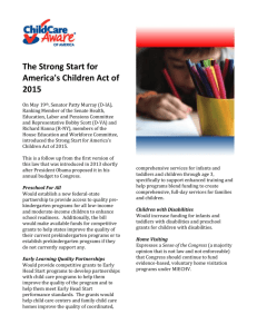The Strong Start for America's Children Act of 2015