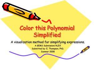 Color this Polynomial Simplified