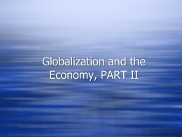 Global Economy PART II - globalizationandhumandynamics.com