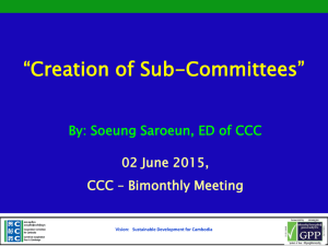 Mr. Soeung Saroeun_Creation of Sub Committees based on CCC