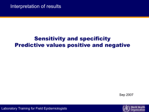 Sensitivity? - World Health Organization