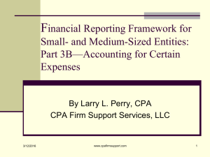 Financial Reporting Framework for Small- and