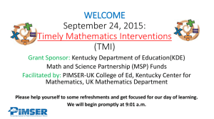 September 24, 2015--TMI - Research 2