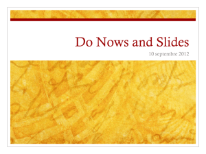 Do Nows and Slides - Long Branch Public Schools
