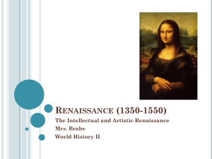 Renaissance PowerPoint notes