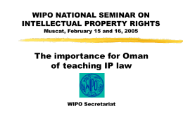 The importance of teaching IP