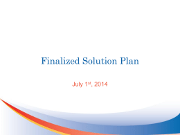Finalized Solution Plan