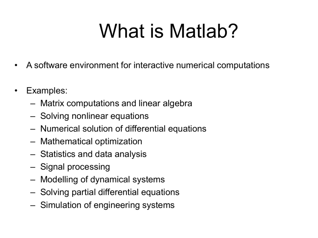 Matlab Tutorials for HY 571