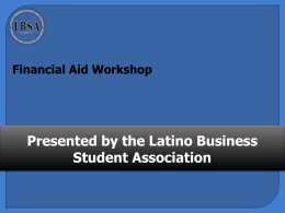 CAL-GRANT - Latino Business Student Association
