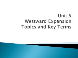 Unit 5 Key Terms & Topics