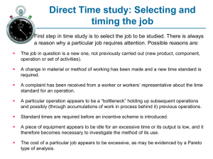 Direct Time Study - Faculty Personal Homepage