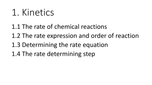 1 Rate of reaction - Don't Trust Atoms