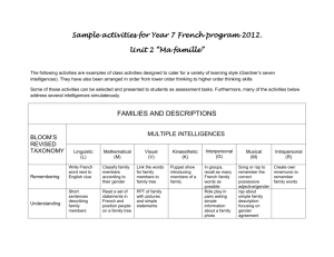 Sample activities for Year7+8 French programs 2012