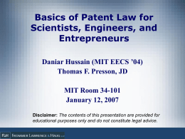 patient law essay The effect of patent litigation and patent assertion entities on entrepreneurial activity∗ catherine e tucker† may 15.