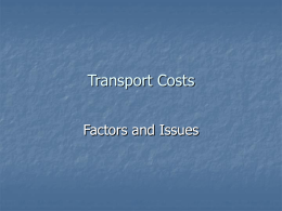 Transport Costs