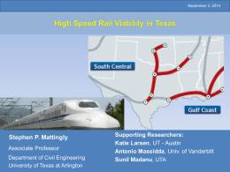 Revisiting High Speed Railways in the US: Assessing Their Future