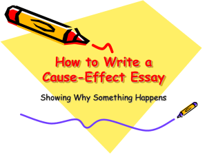 How to Write a Cause-Effect Essay