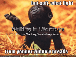 Writing for Literature