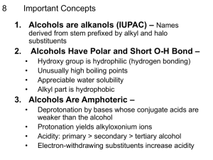 Alcohol Summary