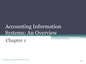 an overview - Department of Accounting and Information Systems