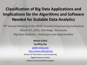 Classification of Big Data Applications and