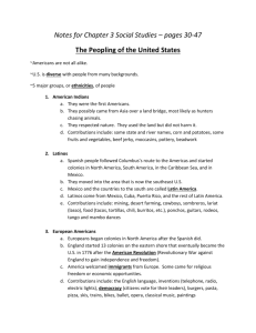 Notes for Chapter 3 Social Studies – pages 30